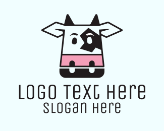 Milkman - Cute Cow Head  logo design