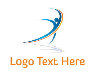 Massage - Energy Blue Man logo design