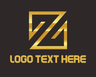 Conditioner - Gold Letter Z logo design