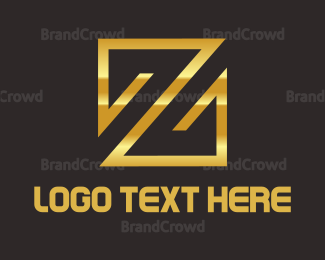 Tan - Gold Z Emblem logo design