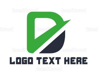 Distribution - Green Letter D logo design