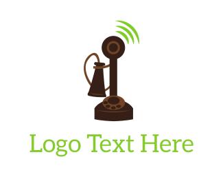 Telephone - Old Telephone logo design