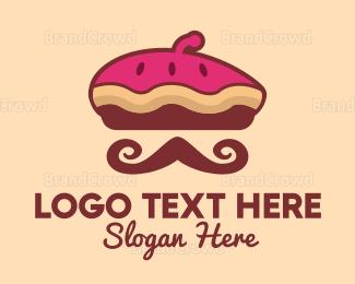 Moustache - French Pie logo design