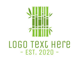 Bamboo - Green Bamboo Books logo design