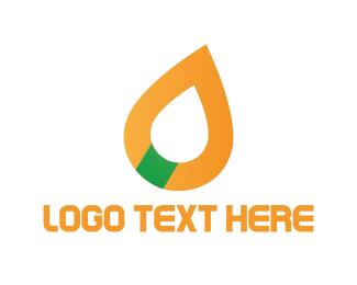 Gasoline - Oil Drop logo design