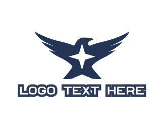 Peregrine - Eagle Star logo design