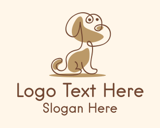 Pet Grooming - Pet Dog Monoline  logo design