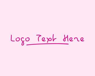 Lesson - Pink Childish Wordmark logo design