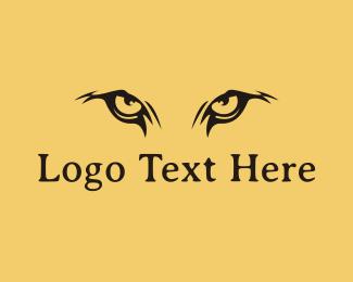 Africa - Lion Eyes logo design