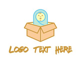 Doll - Baby Box logo design