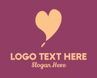 Social Media - Pink Heart logo design