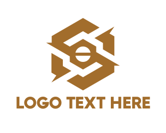 Gold Box - Gold Mechanical Hexagon logo design