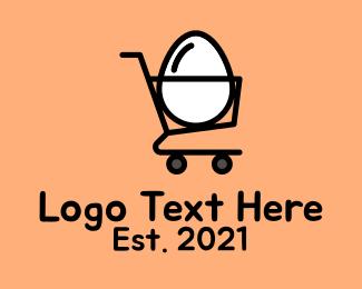 Shop - Egg Shopping Cart logo design