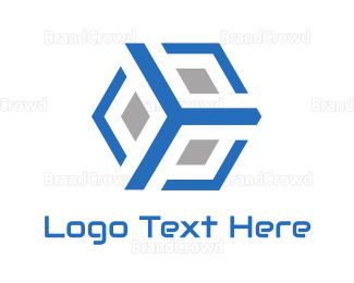 3d - Blue Frame 3D Box logo design