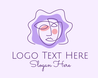 Brand - Abstract Beauty Face Brand  logo design