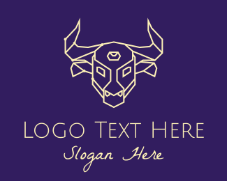 Constellation - Minimalist Bull Constellation  logo design