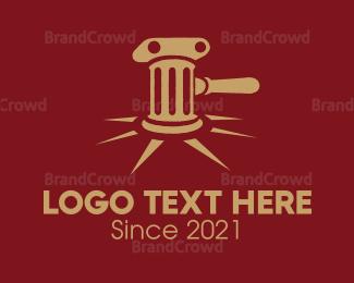 Buy - Antique Gavel logo design
