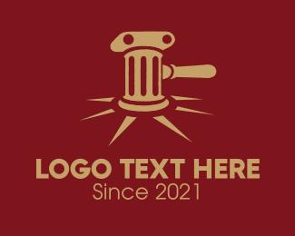 Column - Antique Gavel logo design
