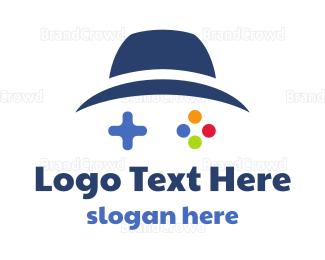 Hat - Blue Hat Gaming logo design