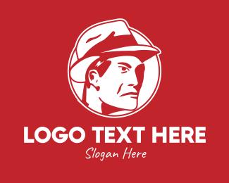 Actor - Red Man Hat logo design