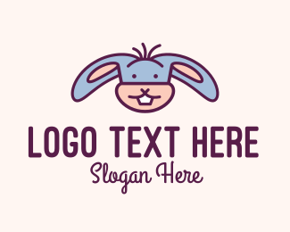 Rabbit Ears - Cute Rabbit Mascot logo design