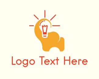 Think - Elephant Idea logo design