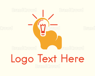 Bulb - Elephant Idea logo design