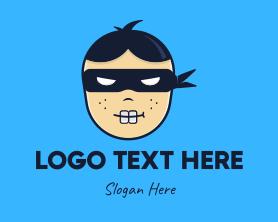 Geek Ninja Boy Logo