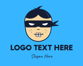 Geek - Geek Ninja Boy logo design