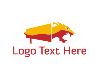 Megaphone - Tiger Megaphone logo design