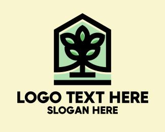 Grow - Minimalist Landscape Tree logo design