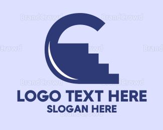 Flooring - Climb Letter C logo design