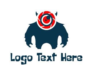 Frankenstein - Camera Monster logo design