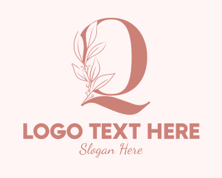 Aesthetics - Elegant Leaves Letter Q logo design