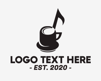 Music - Musical Cup Cafe logo design