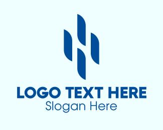 Data Server - Digital Letter H Company  logo design