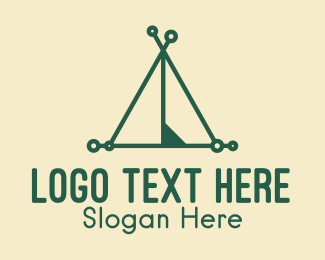 Camping Site - Camping Tent logo design