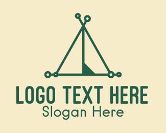 Hut - Camping Tent logo design