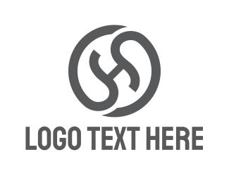 Glyph - Black Round H  logo design