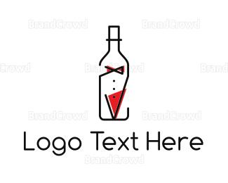 Bachelor - Bottle Suit logo design