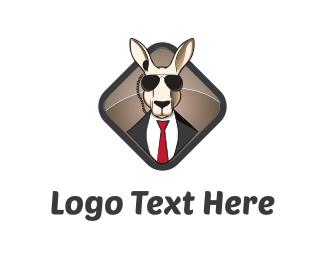 Cartoon - Kangaroo Agent logo design