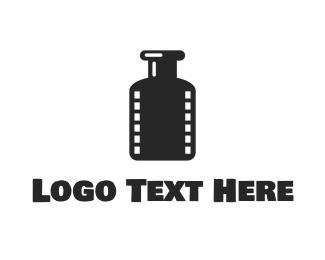 Film - Film Bottle logo design