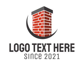 Chimney - Brick Chimney Contractor logo design
