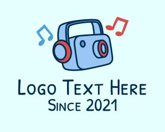 Photograph - Music Camera  logo design