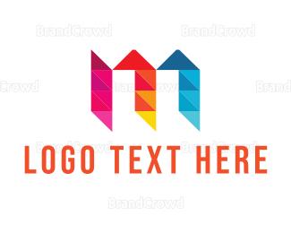 Exhibition - Letter M Diamond logo design