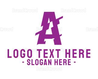 Distorted - Distorted Letter A logo design