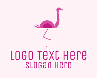 Flamingo - Minimalist Flamingo logo design