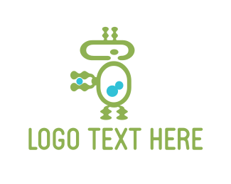 Android - Green Robot logo design