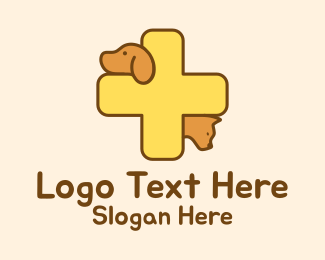 Pet Clinic - Pet Veterinarian Cross logo design