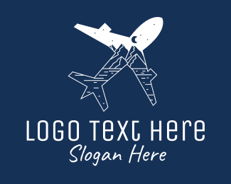 Travel - Outdoor Traveler Plane logo design